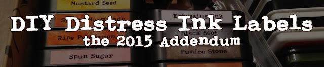 Tim Holtz, Distress Ink, 2015, labels, DIY storage solution, DIY, storage, scrapbooking, card making