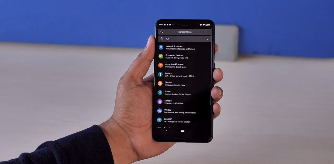 Android Q new dark mode