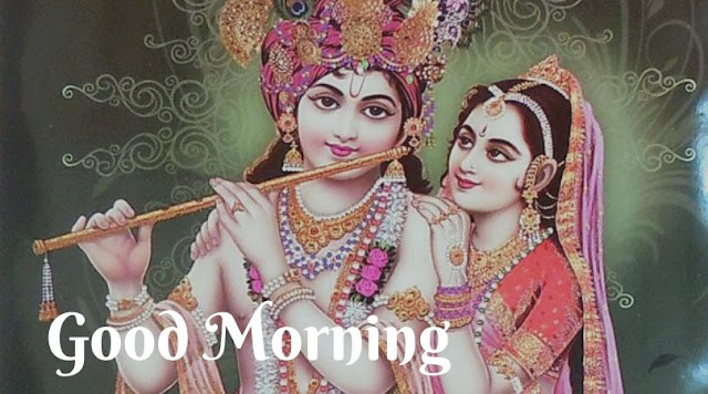 radhe krishna good morning image
