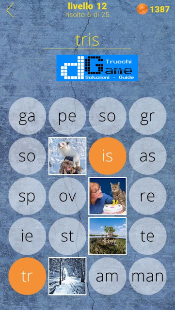 650 Parole soluzione livello 12 (1 - 25) | Parola e foto