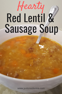 Hearty Red Lentil and Sausage Soup