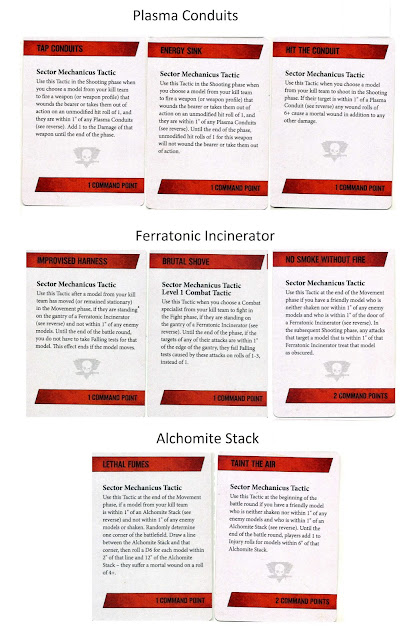 cartas tácticas Sector Mechanicus