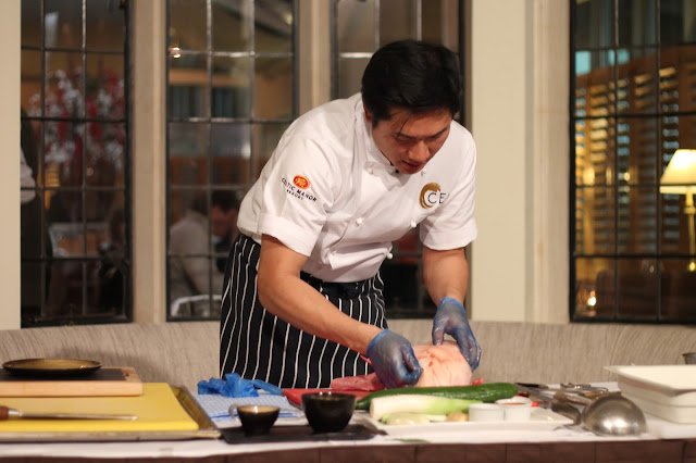 cookery demonstration at The Celtic Manor with Masterchef finalist Larkin Cen
