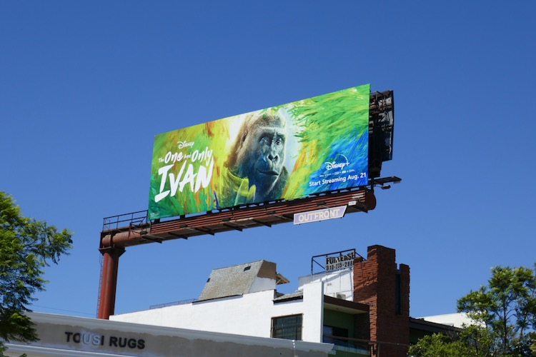 One and Only Ivan film billboard