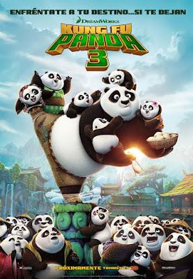 Carátula de la tecera película de Kung Fu Panda