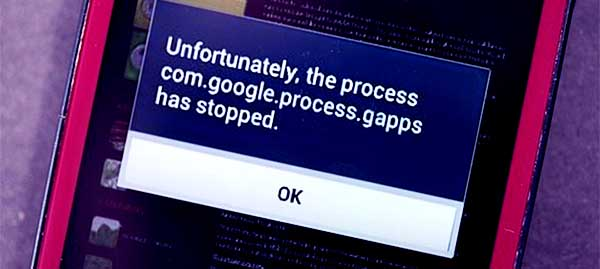 The Process com.google.process.gapps Has Stopped