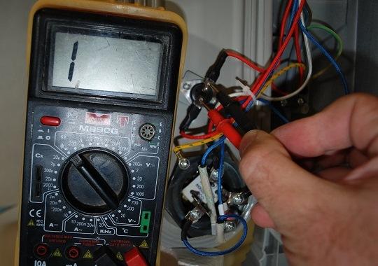 проверка неисправности термопредохранителя