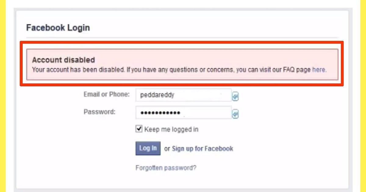 كيفية استعادة حساب الفيسبوك معطل عن طريق الهوية