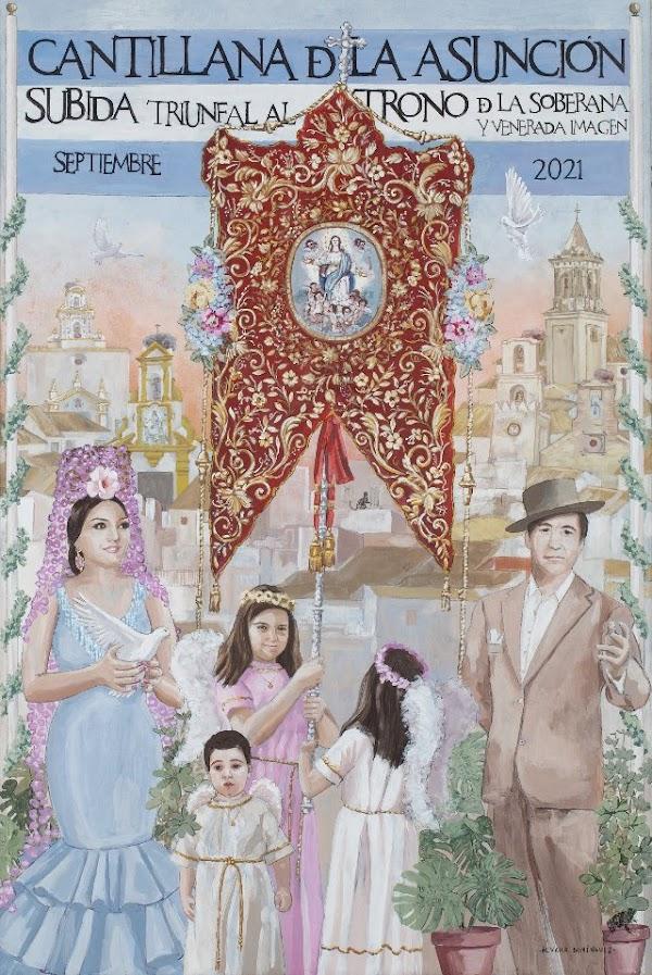 Cartel de la subida de la Asunción de Cantillana 2021