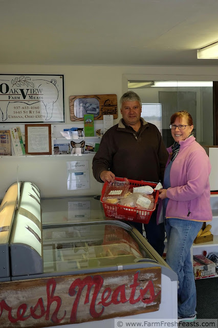 Mark Runyan of Oakview Farm Meats at his on farm store, with plenty of pork and beef for sale