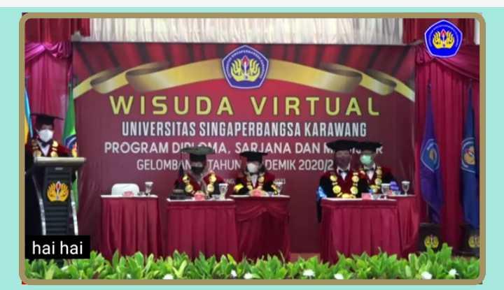 wisuda virtual Universitas Singaperbangsa