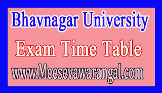 Bhavnagar University BDS 1st To 4th Year Nov 2016 Exam Time Table