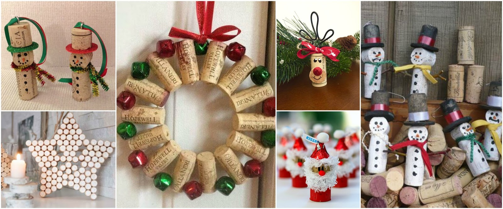 13 adornos navide os con corchos para decorar el rbol de - Adornos navidenos paso a paso ...