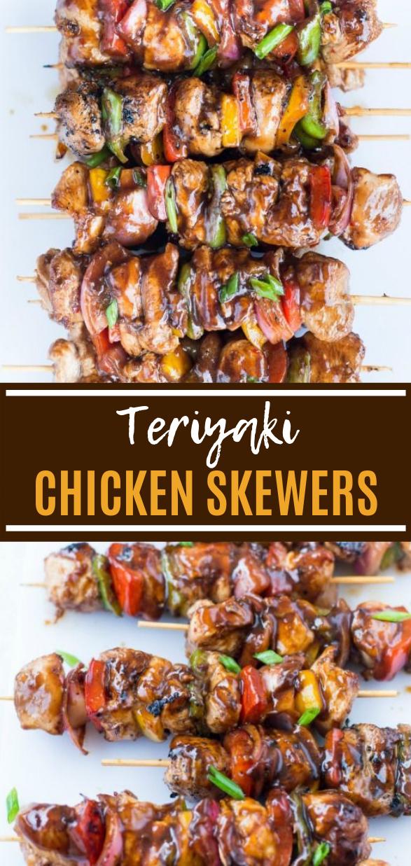 Grilled Teriyaki Chicken Skewers #bbq #summerrecipe