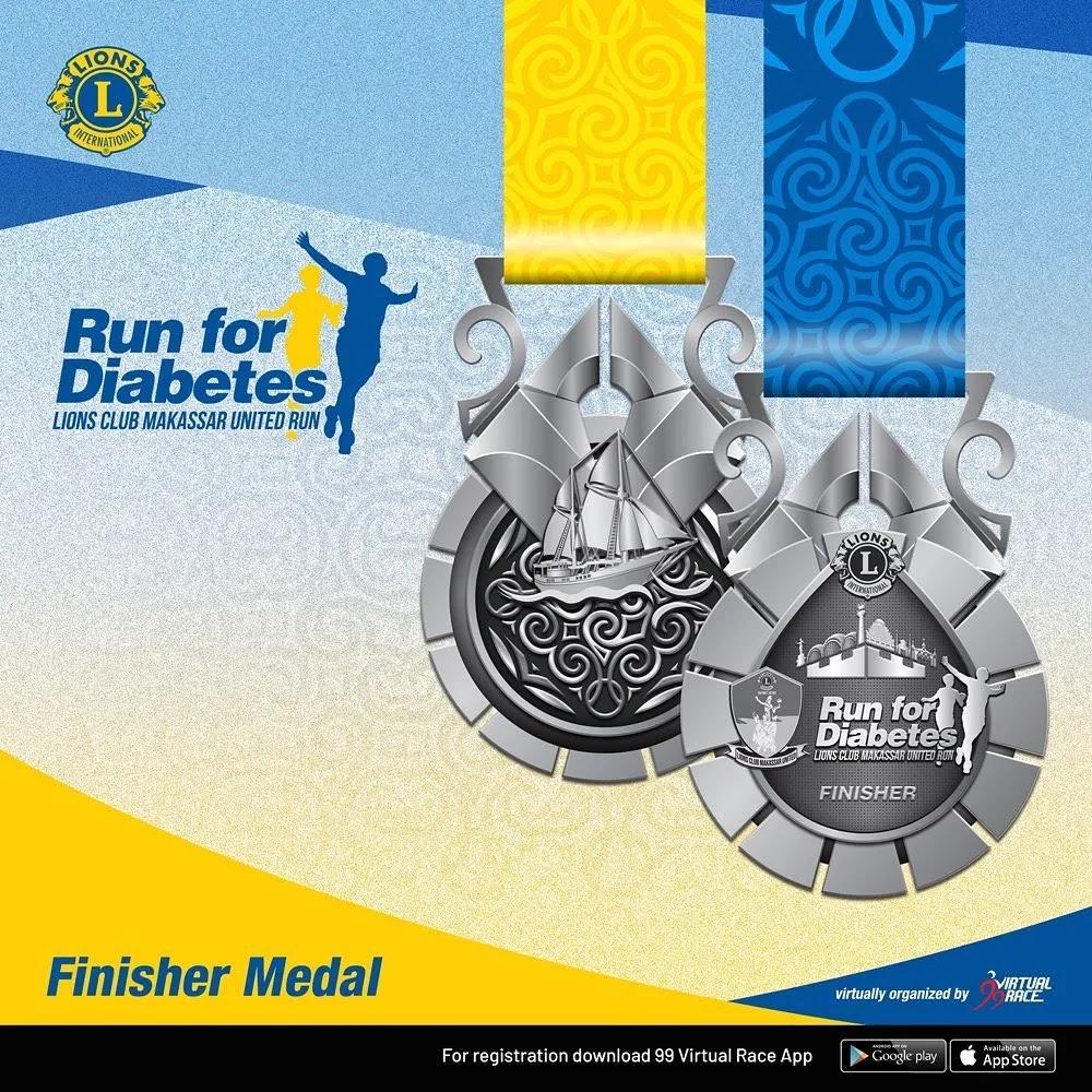 Medal � Run for Diabetes • 2021