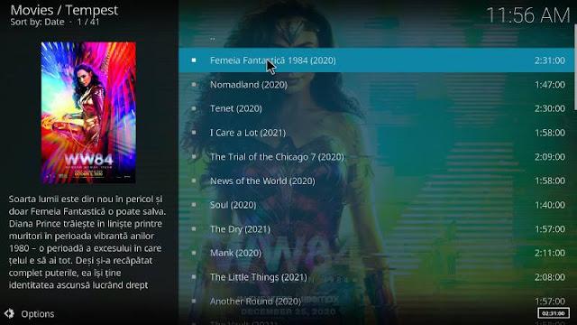 Tempest- Plugin Kodi pentru filme 2021