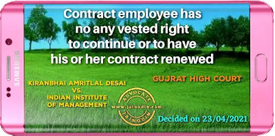 No contract employee has any vested right to continue or to have his or her contract renewed