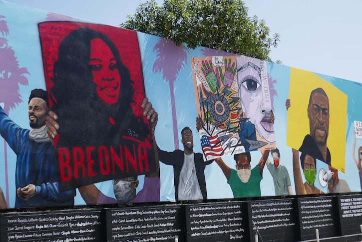Black Lives Matter mural West Hollywood