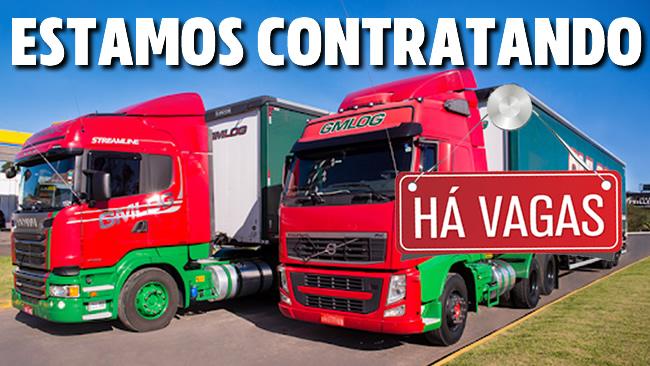 GM LOG transportes abre vagas para Motorista