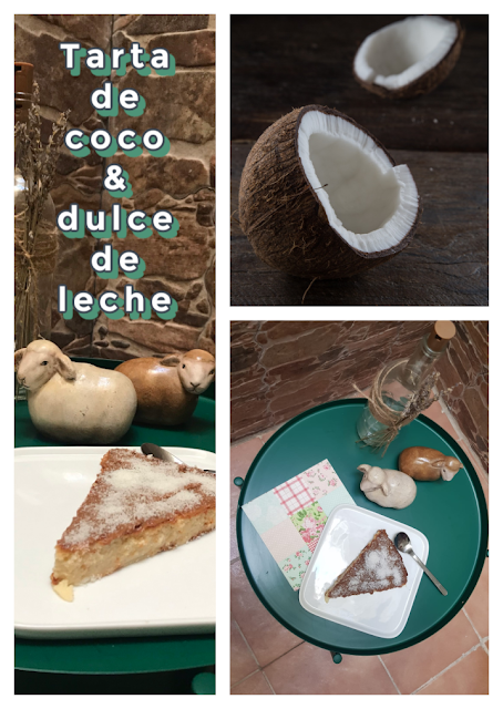 Tarta de coco collage