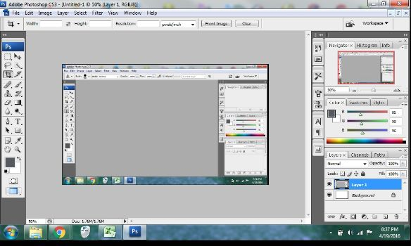 cara screenshot di laptop dengan photoshop