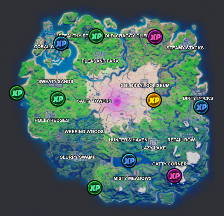 Fortnite: Find XP coins from week 7 - All locations on the map