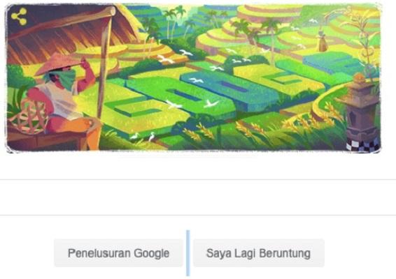 Google Doodle Tampilkan Subak atau Sistem Irigasi Bali, Ada Apa?