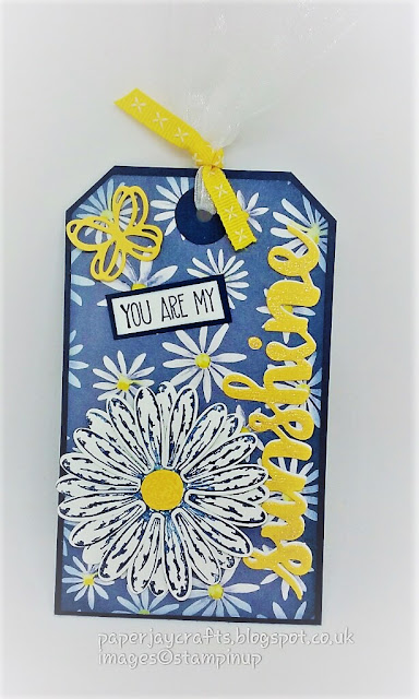 paperjay crafts, delightful daisy, sunshine sayings, stampin up