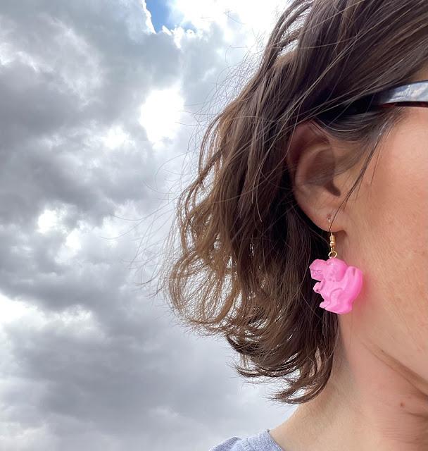 Pink-Resin-Dinosaur-Earrings