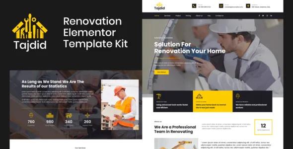 Best Renovation Elementor Template Kit
