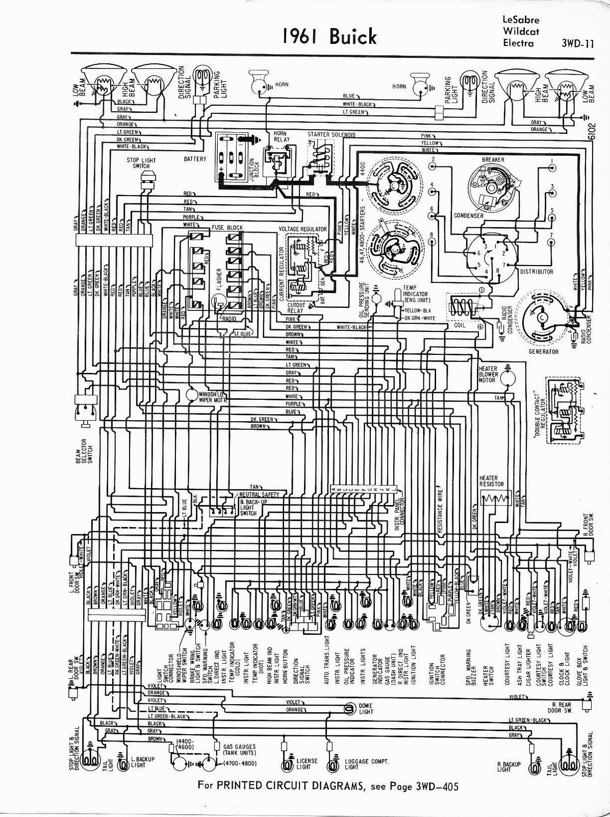 Free Auto Wiring Diagram: 1961 Buick LeSabre, Wildcat ...