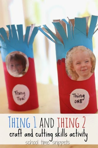 Thing 1 and Thing 2 Craft and Scissor Skills Activity