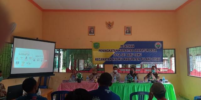Tingkatkan Kapasitas Aparatur Desa Sei Baru Tewu Gelar Pelatihan
