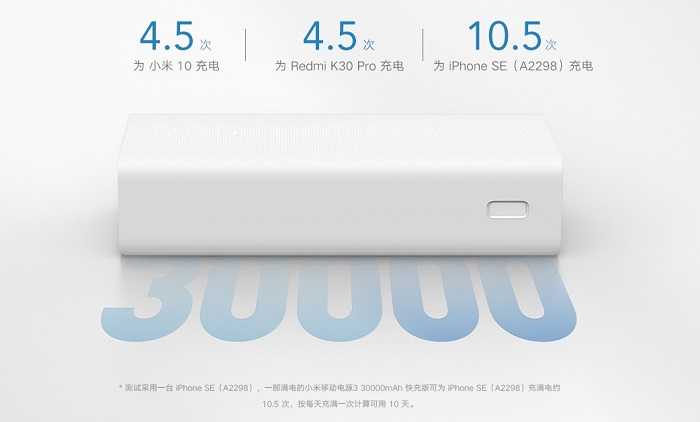 Xiaomi 30,000mAh Mi Power Bank 3 Price