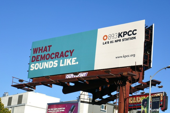 What democracy sounds like NPR billboard