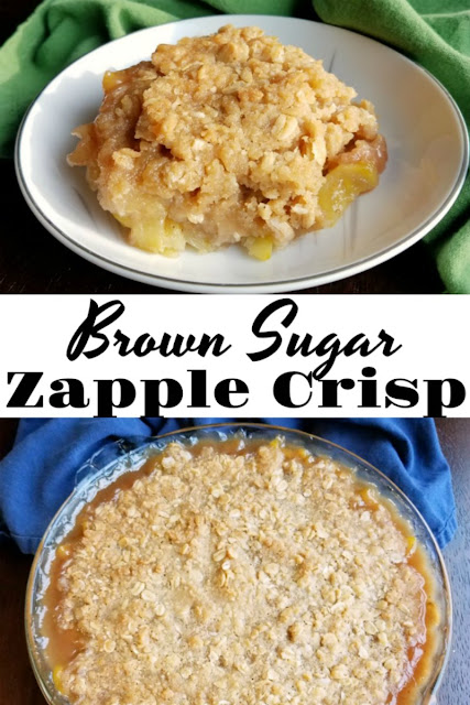 This fun recipe turns summer zucchini into a delicious dessert! The brown sugar crisp tastes so good and it's just like eating an apple crisp. Top with vanilla ice cream for a perfect summer treat!
