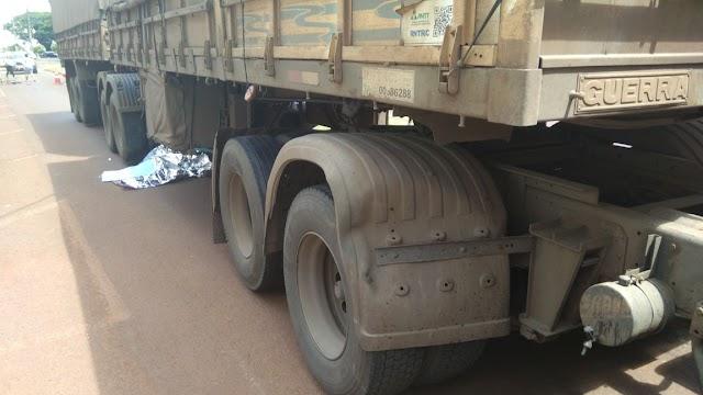 Ciclista é morto atropelado por carreta em Campina da Lagoa