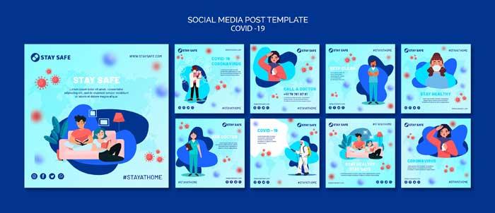 Covid-19 Social Media Posts Template