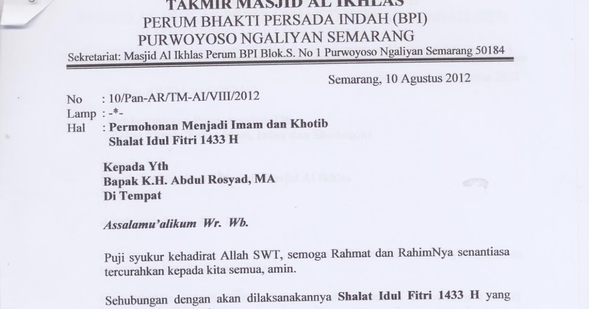 10++ Contoh surat edaran zakat fitrah di masjid terbaru terbaik