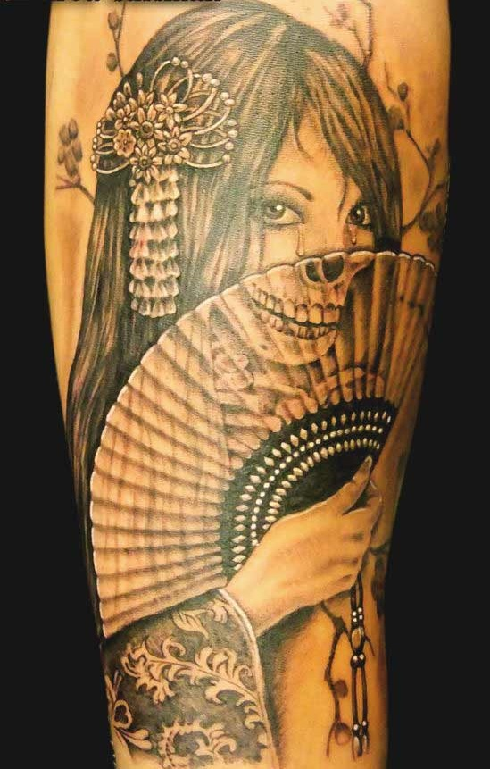 Geisha girl tatoos