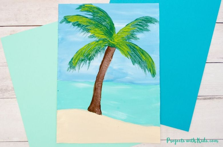 summer palm tree craft for kids