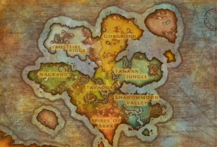 Wow Wod Map Warlords of Draenor: Maps and Zones