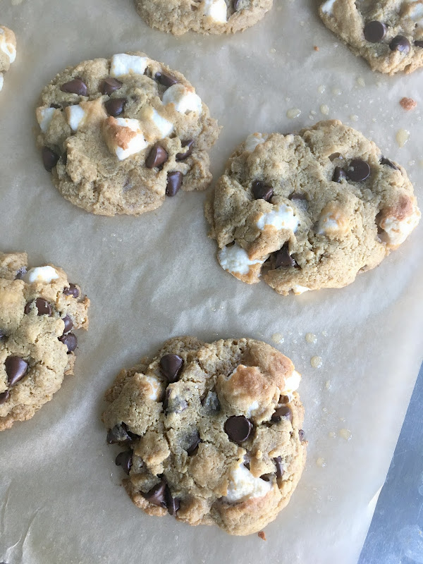 Flourless Peanut Butter S'mores Cookies {Gluten-free, Dairy free}