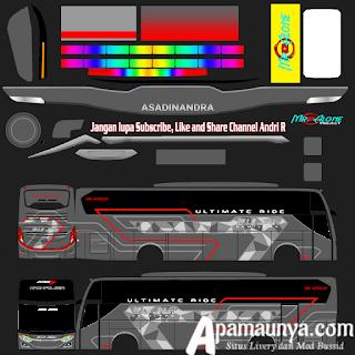 Livery Muji Jaya Bussid Terbaru JB3+ Versi SHD