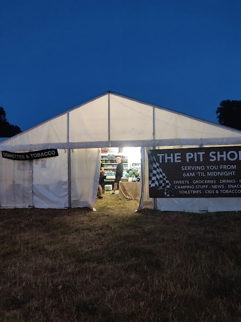 The Pit Shops at Cornbury Festival campsite