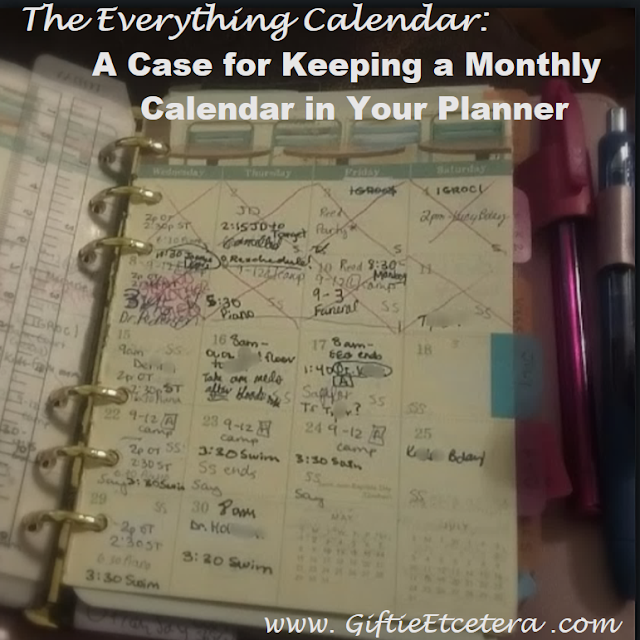 monthly calendar, planner, monthly calendar in planner, Paris is a Good Idea Monthly Calendar
