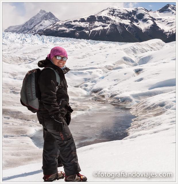 trekking en el glaciar Perito Moreno en Patagonia argentina