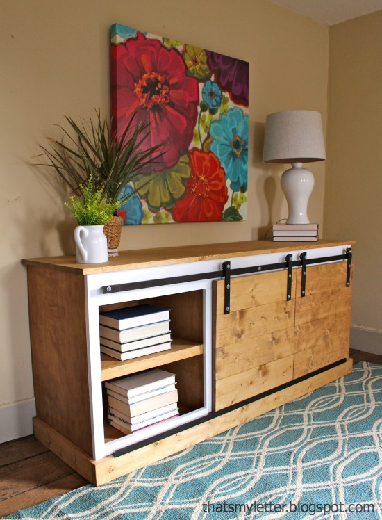 Sliding Door Console Table Tutorial
