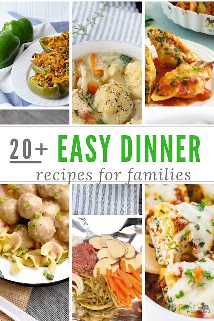 Make one of these easy dinner recipes for family weeknight meals.