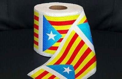 Papé de cul, estelada, independéncia, Catalunya, paper higiènic